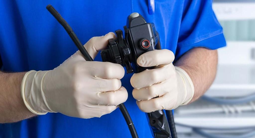 Doctor Inside Mobile Endoscopy Unit